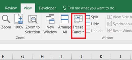 Thủ thuật trình bày bảng tính - Freeze Panes