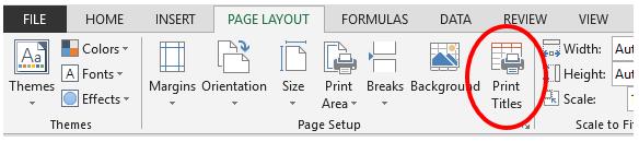Thủ thuật trình bày bảng tính - Print Titles
