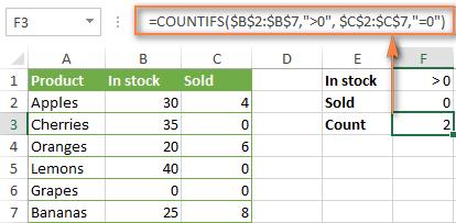 Coffee Excel 0000003.2 - Countifs voi nhieu dieu kien - Example 1