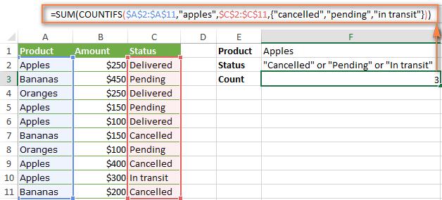Coffee Excel 0000003.5 - Countifs voi nhieu dieu kien - Example 4
