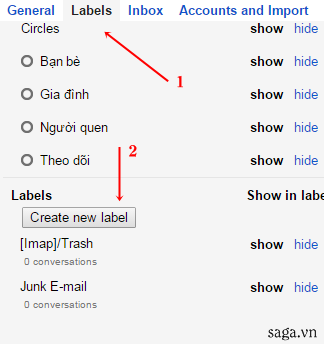 Top 6 thủ thuật gmail - Label