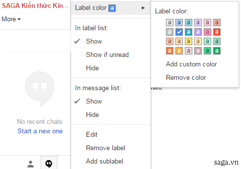 Top 6 thủ thuật gmail - Label Color