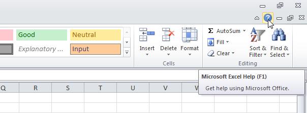 12 phím chức năng trong Excel - F1