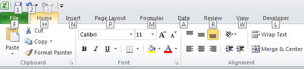 12 phím chức năng trong Excel - F10