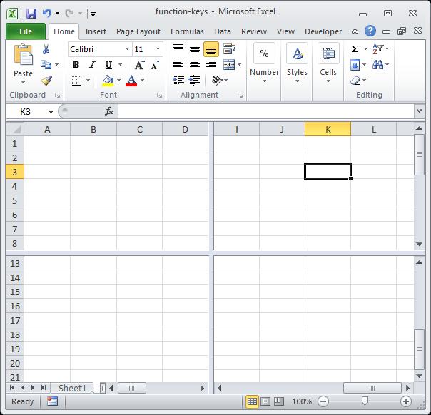 12 phím chức năng trong Excel - F6