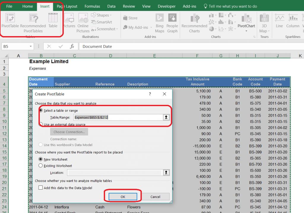 công cụ phân tích trong Excel - Pivot Table
