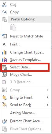 Hiển thị ô bị ẩn trong đồ thị - Select Data