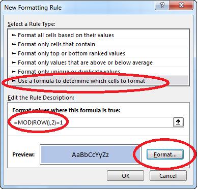 Tô màu xen kẽ dòng trong Excel - Conditional Formatting