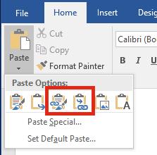 Liên kết file Excel và Word - Link Paste