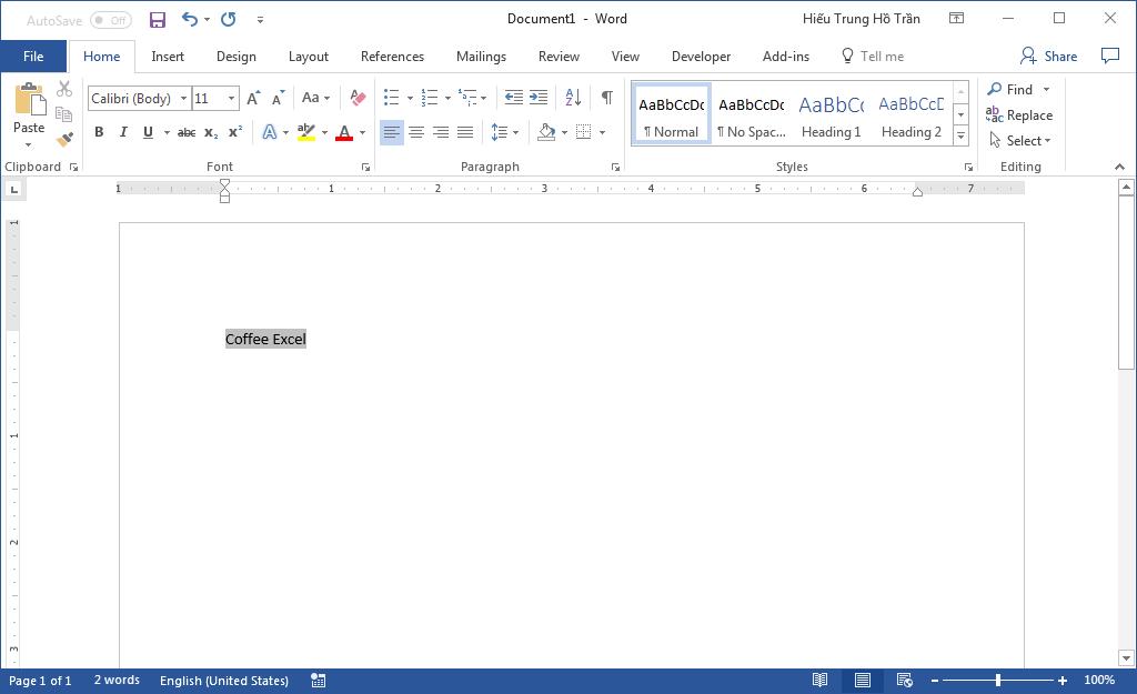 Liên kết file Excel và Word - Paste Link