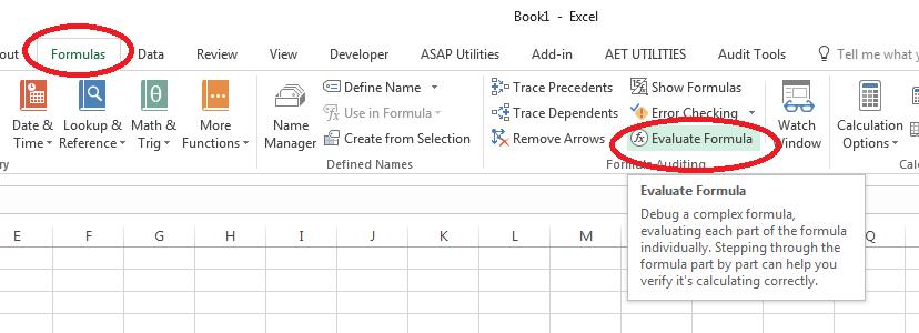 Evaluate Formula