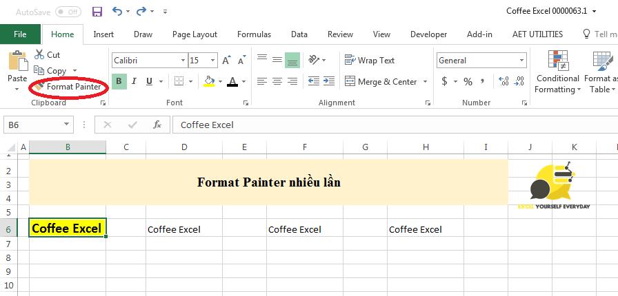 thủ thuật sử dụng chuột trong Excel