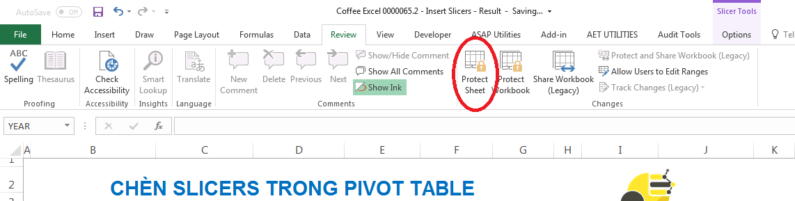 Khóa Pivot Table