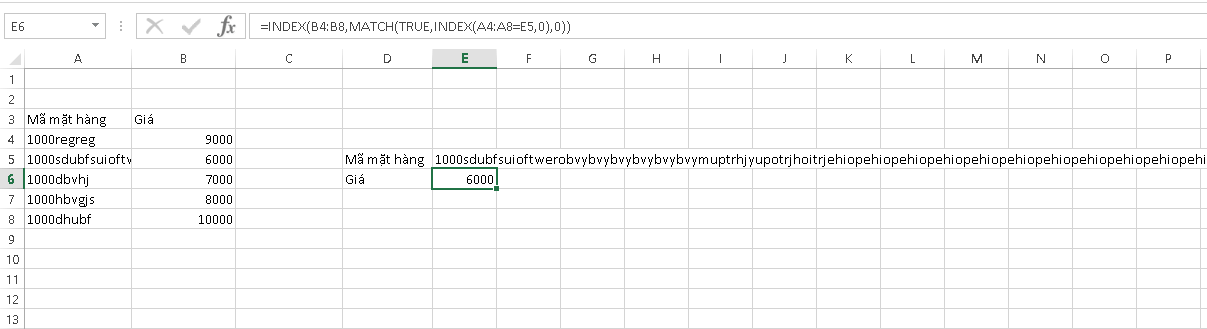 lỗi trong Excel